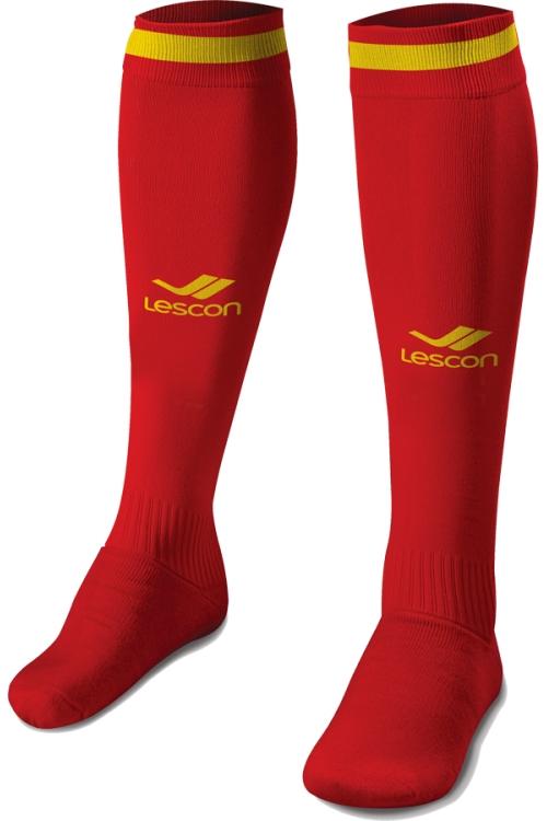 La-2172 Kırmızı Sarı Futbol Çorabı 40-45 Numara
