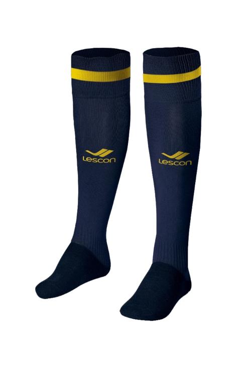 La-2172 Lacivert Sarı Futbol Çorabı 40-45 Numara