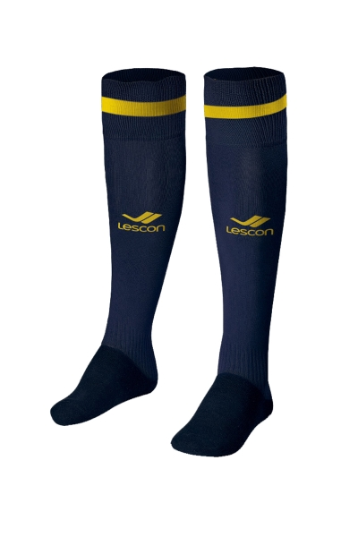 La-2172 Football Socks Navy Yellow 40-45 Size