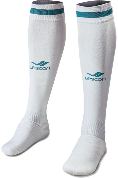 La-2172 Beyaz Turkuaz Futbol Çorabı 40-45 Numara