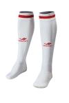 La-2172 Beyaz Kırmızı Futbol Çorabı 40-45 Numara