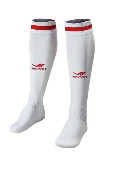 La-2172 Beyaz Kırmızı Futbol Çorabı 40-45 Number