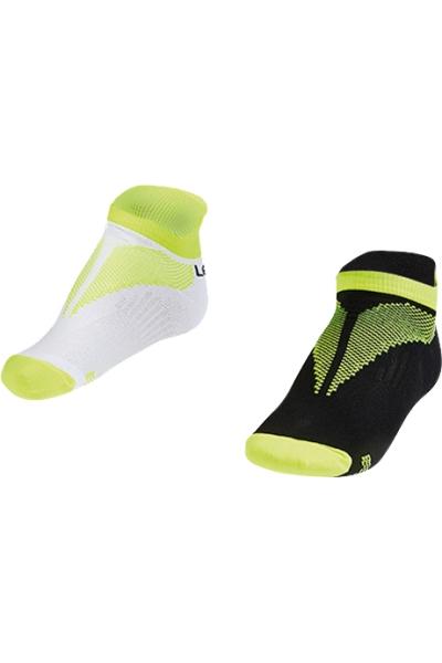 La-2190 2 Pairs in 1 Pack Sports Socks Green 40-45 Size