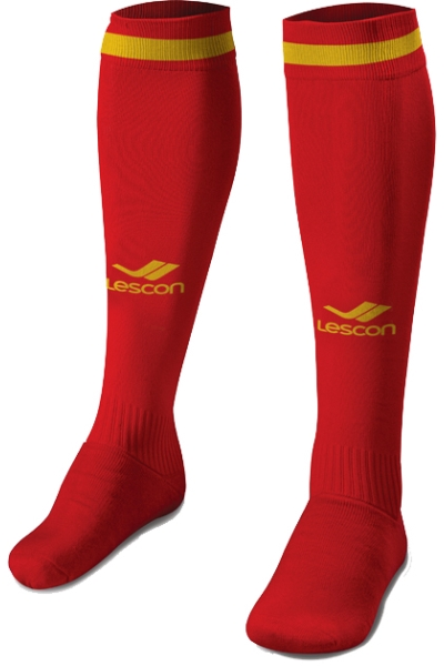 La-2172 Kırmızı Sarı Futbol Çorabı 36-39 Numara