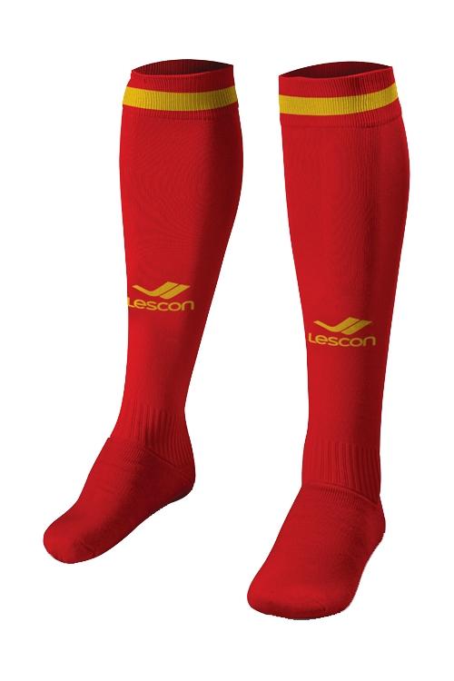 La-2172 Kırmızı Sarı Futbol Çorabı 31-35 Numara