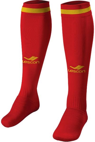 La-2172 Kırmızı Sarı Tekli Futbol Çorabı 31-35 Numara