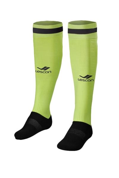 La-2172 Neon Sarı Siyah Tekli Futbol Çorabı 31-35 Numara