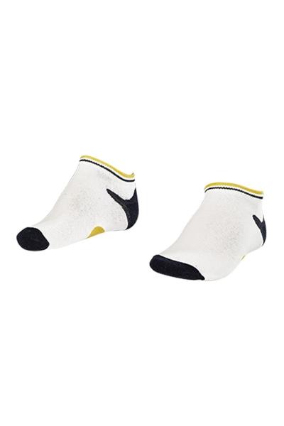 La-2187 Beyaz 3'lü Patik Çorap 31-35 Numara
