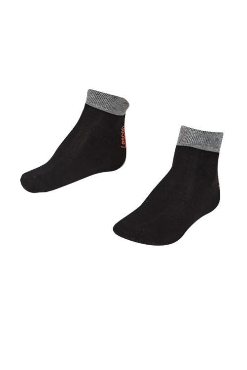 La-2189 Siyah 3'lü Tenis Çorap 31-35 Numara