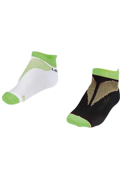 La-2196 2 Pack Booties Socks Green 30-35 Number