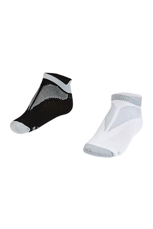 La-2196 Gri 2'li Patik Çorap 30-35 Numara