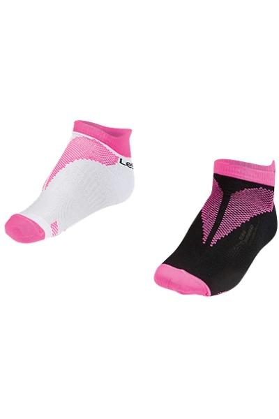 La-2196 Fuşya 2'li Patik Çorap 30-35 Numara