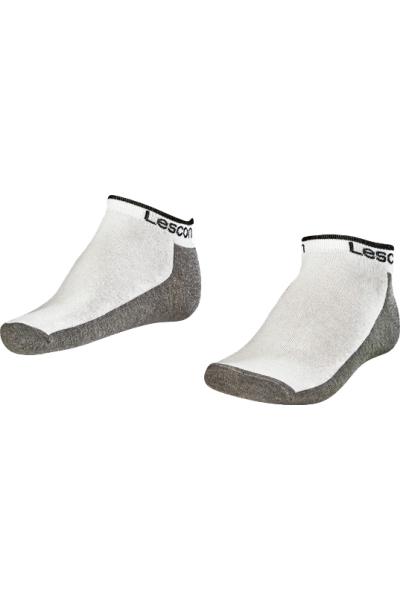 La-2185 2 Pack Booties Socks White 40-45 Number