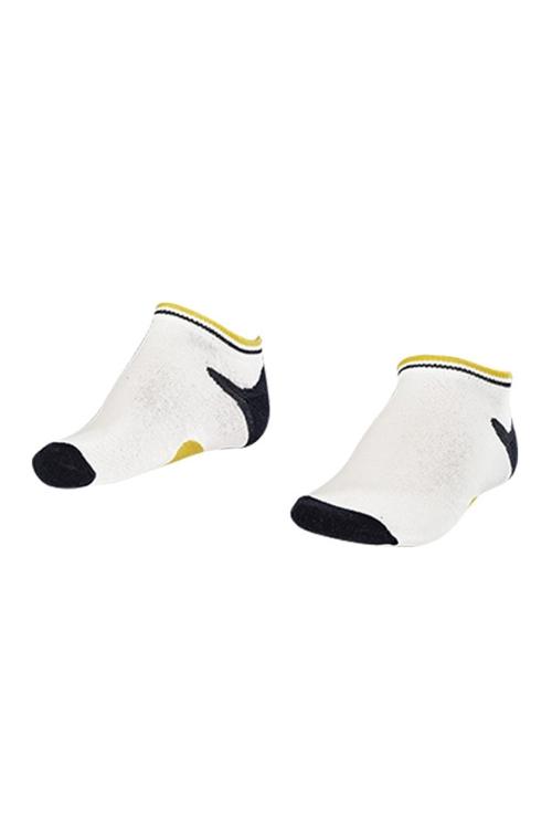 La-2187 Beyaz 3'lü Patik Çorap 26-30 Numara