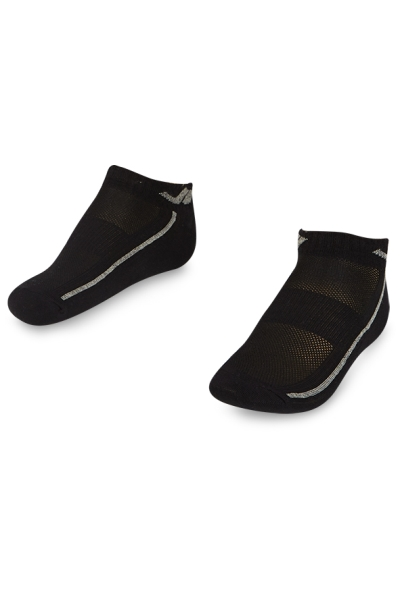 La-2194 Siyah 2'li Patik Çorap 40-45 Numara