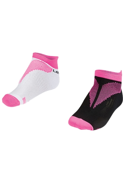 La-2196 2 Pairs in 1 Pack Sports Socks Pink 26-30 Size