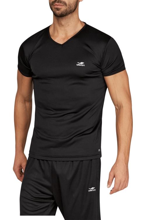 17S-1221 Siyah Erkek T-Shirt