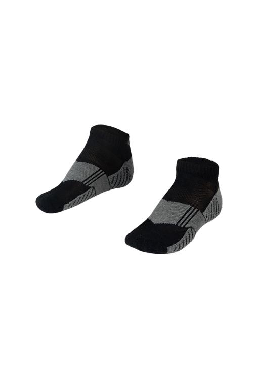 La-2167 Siyah 2'li Spor Çorap 40-45 Numara