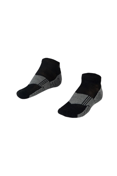La-2167  2 Pack Sports Socks Black 40-45 Number