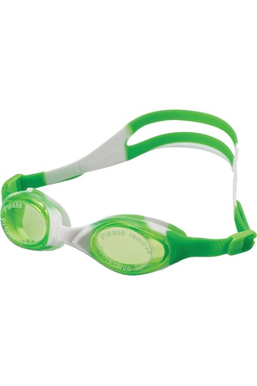 La-2226 Beyaz Yeşil Çocuk Yüzücü Gözlüğü