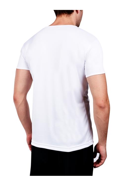 18S-1221 Beyaz Erkek T-Shirt