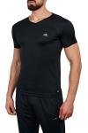 18S-1221 Siyah Erkek T-Shirt