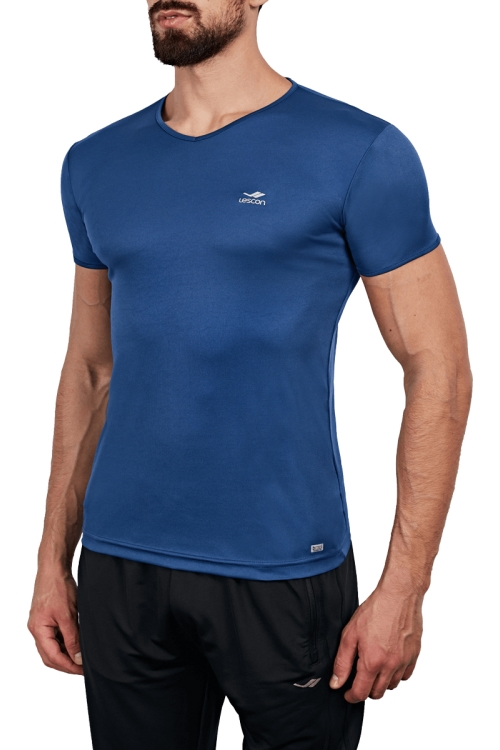 18S-1221 İndigo Erkek T-Shirt
