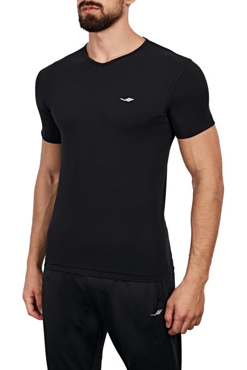 18B-1063 Siyah Erkek T-Shirt