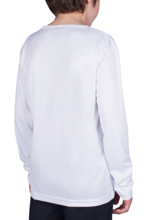 18S-3222 Beyaz Çocuk Uzun Kollu T-Shirt
