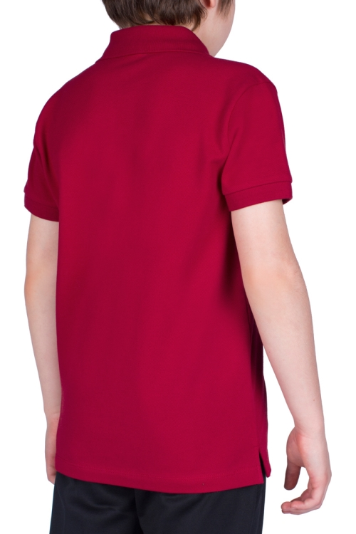 18S-3251-18N Bordo Çocuk Kısa Kollu Polo Yaka T-Shirt
