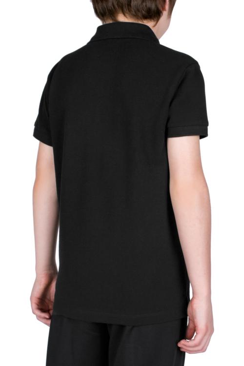 18S-3251-18N Siyah Çocuk Kısa Kollu Polo Yaka T-Shirt