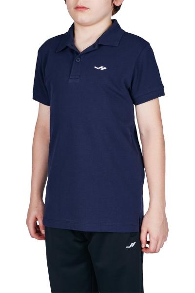 18S-3251-18N Koyu Lacivert Çocuk Kısa Kollu Polo Yaka T-Shirt