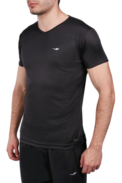 18S-1221-18N Siyah Erkek Kısa Kollu T-Shirt