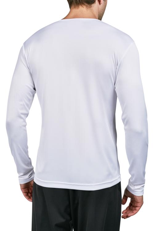 18S-1222 Beyaz Erkek Uzun Kollu T-Shirt