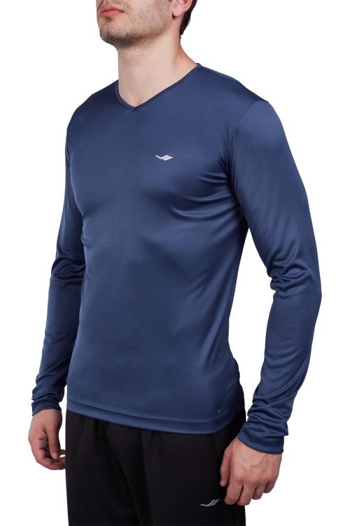 18S-1223 Mavi Erkek Uzun Kollu T-Shirt