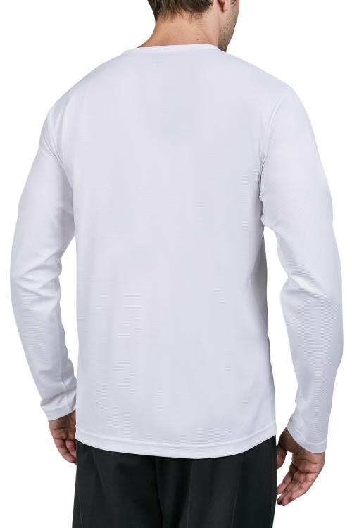 18S-1225 Beyaz Erkek Uzun Kollu T-Shirt