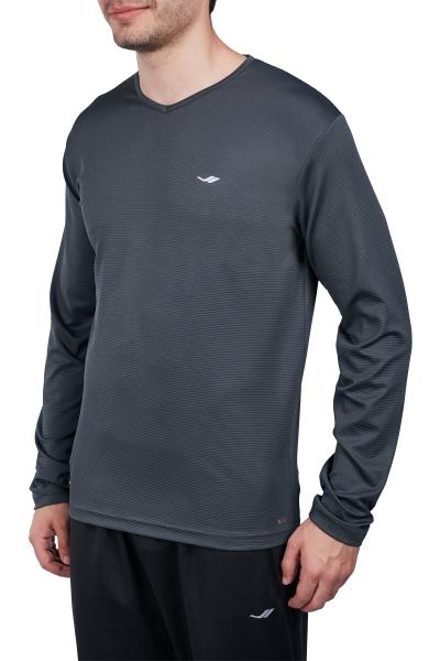 18S-1225 Antrasit Erkek Uzun Kollu T-Shirt