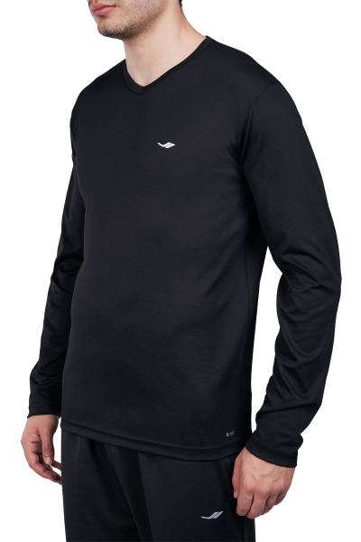 18S-1225 Siyah Erkek Uzun Kollu T-Shirt