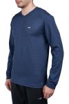 18S-1225 Mavi Erkek Uzun Kollu T-Shirt