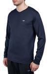 18S-1225 Koyu Lacivert Erkek Uzun Kollu T-Shirt