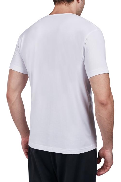 18S-1227 Beyaz Erkek Kısa Kollu T-Shirt