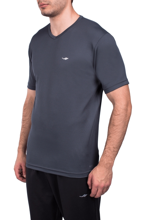 18S-1231-18N Antrasit Erkek Kısa Kollu T-Shirt