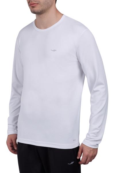 18S-1233 Beyaz Erkek Uzun Kollu T-Shirt