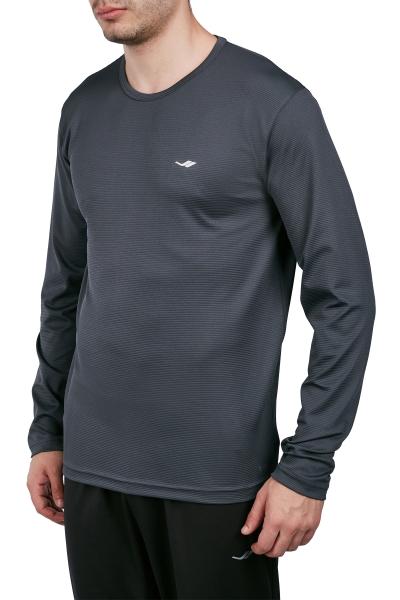 18S-1233 Antrasit Erkek Uzun Kollu T-Shirt