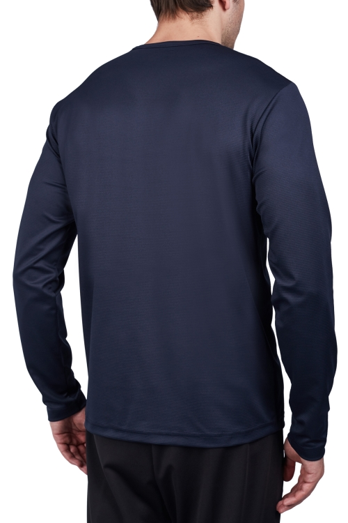 18S-1233 Koyu Lacivert Erkek Uzun Kollu T-Shirt