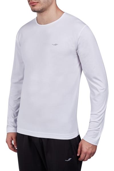 18S-1236 Beyaz Erkek Uzun Kollu T-Shirt