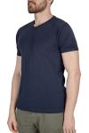 18S-1244-18N Koyu Lacivert Erkek T-Shirt