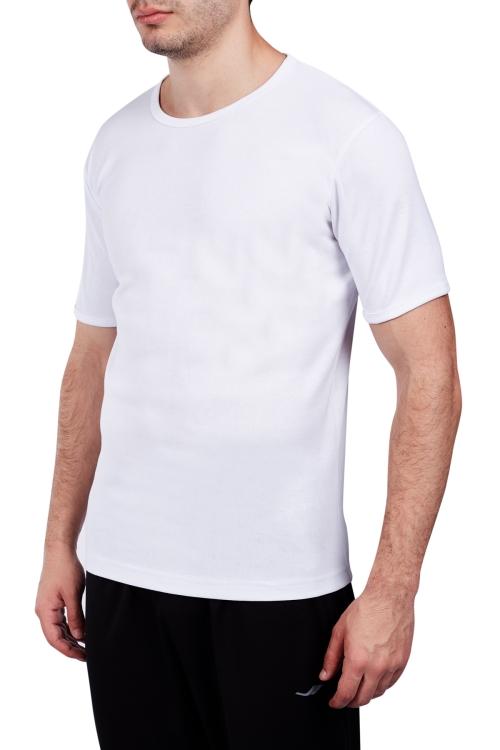 18S-1245 Beyaz Erkek Kısa Kollu T-Shirt