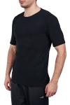18S-1245 Siyah Erkek Kısa Kollu T-Shirt