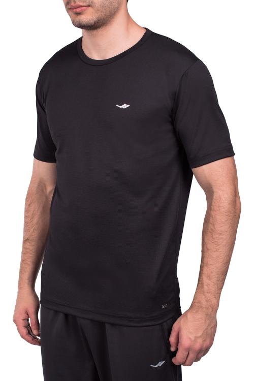18S-1249-18N Siyah Erkek Kısa Kollu T-Shirt
